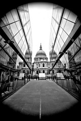 St Paul's The City Reflects by Simon & His Camera (Simon & His Camera) Tags: city urban blackandwhite bw reflection building london church glass monochrome lines skyline architecture composition cathedral stpauls dome iconic simonandhiscamera