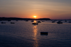 Sunset over Poole, Dorset (Simon Cresdee [www.simoncresdeephotography.com]) Tags: sunset sea sky sun water 35mm boats nikon south dorset poole d7000