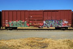Obsoe (Sk8hamburger) Tags: railroad art train painting graffiti paint tag rr boxcar graff piece tagging freight sinus ltf paint spray obsoe