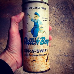 1960s Vintage Dutch Boy Paint Spray Can (Christian Montone) Tags: vintage graphics labels spraypaint 1960s cans montone christianmontone