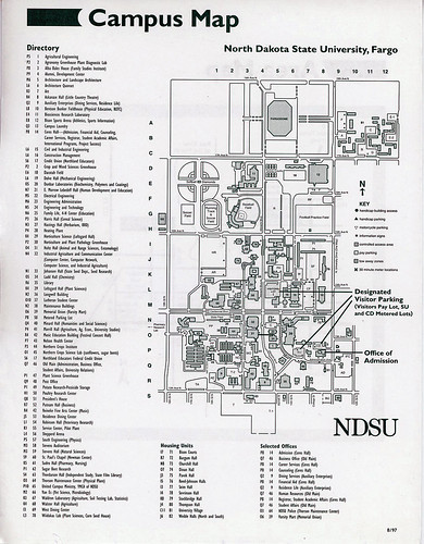 North Dakota State University campus map, 1997