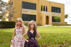 Barbies visit Old Davie School (PoetC7) Tags: old school barbie davie fashiondolls