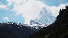 Matterhorn from Zermatt (salzhail) Tags: mountains canon rebel switzerland zermatt matterhorn xs 1000d