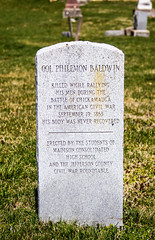 Col. Philemon Baldwin (will139) Tags: cemeteries headstones graves civilwar gravestones chickamauga battleofchickamauga springdalecemetery madisonin colphilemonbaldwin