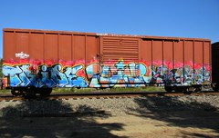 On the Fly (Sk8hamburger) Tags: railroad art train painting graffiti paint tag rr boxcar graff piece tagging freight horace tride paint spray ruinr