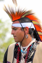 Necklaces (ScribeGirl) Tags: necklace indian profile feather earring northcarolina jewelry nativeamerican 106 claw bead youngman headdress powwow haliwasaponi 113picturesin2013