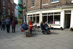 P1030909-1 (Lawrence Holmes.) Tags: street york uk coffee lumix cafe tea pavement streetphotography g2 waitress cafeculture 1442