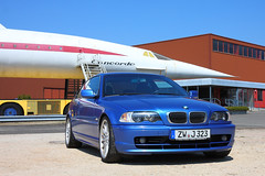 BMW 323Ci Coupe & Concorde (Michal Jeska) Tags: blue bmw coupe individual e46 estoril 323ci canonefs1755mmf28isusm estorilblau