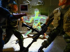 Teleport: Overkill! (Dudesnbots) Tags: trooper america cobra bat n battle joe captain outback dudes bots android grunt gi overkill dudesnbots