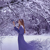 A listening ear (SamanthaLabrecque) Tags: blue selfportrait snow tree bird canon smoke magic listening innocence redhair magical enchanted purity fairskin texturebylesbrumes samanthalabrecque