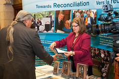Guest visit Aboriginal Affairs and Northern Development Canadas booth on Reconciliation (Aboriginal Affairs and Northern Development Canada) Tags: canada window photo artwork culture parliament stainedglass firstnations apology inuit reconciliation houseofcommons mtis centreblock aboriginalpeoples indianresidentialschools aandc aboriginalaffairsandnortherndevelopmentcanada