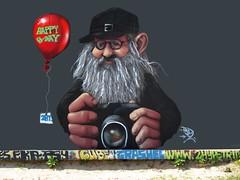Vandaag is Akbar jarig (Roel Wijnants) Tags: graffiti wandelen akbar gefeliciteerd 2ht mooidenhaag hoflaak wandelvondsten