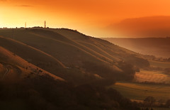 Fulking Escarpement from Devil's Dyke (JamboEastbourne) Tags: park sunset england downs sussex south devils national dyke fulking