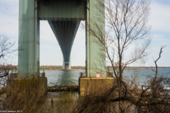 Water Under the Bridge (John Skelson) Tags: newyorkcity lensbaby nikon unitedstates statenisland verrazanobridge pinholephotography reallyrightstuff verrazanonarrowsbridge worldwidepinholephotographyday newyorkharbor gatewaynationalpark nationalparksservice fortwadsworth nikond600 lensbabypinhole johnskelson vzbridge vzfortwwpinholephoto13