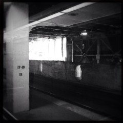 Track 19 (smaedli) Tags: railroad bw chicago iphone uploaded:by=flickrmobile flickriosapp:filter=nofilter