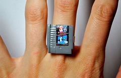 it8bit: NES Cartridge Rings These awesome handmade NES Cart rings made by Jess Firsoff are available for pre-order for $16(USD) @Etsy. (via:Technabob) (tf_tweeter) Tags: image rings nes cartridge reblogged