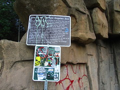 Old Zoo, Griffith Park, Los Angeles (fordsbasement) Tags: sign graffiti losangeles griffithpark
