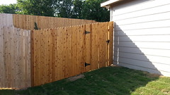 Fence Staining (RentAPainterSA) Tags: wood stain fence san texas natural deck cedar siding antonio selma toned cabot staining flickrandroidapp:filter=none
