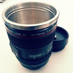 Canian EF 24-105mm f/4.0L USM Lens Mug - A friend gave this to me a few weeks back and today I drank my coffee in it. #mug #coffee #Canon #Canian #lens #photography #camera #cameralens (MisledYouth74) Tags: square squareformat normal iphoneography instagramapp uploaded:by=instagram