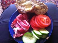 Lunch - May 19 - Bread and ham with tomato and cucumber (Two Fat Laddies) Tags: food tomato bread lunch healthy meals cucumber ham meal diet dieting twofatladdies uploaded:by=flickrmobile flickriosapp:filter=nofilter
