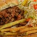 Mmm... pulled brisket with slaw and fries