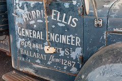 Morris Ellis Truck Sign (Serendigity) Tags: old museum truck desert transport australia outback doorsign ballarat northernterritory alicesprings