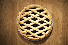 Raspberry Pie (Victoria Wozniak) Tags: wood food brown color colour pie dessert beige sweet tasty delicious raspberry treat