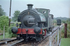 W37 Invincible & W8 Freshwater - Havenstreet (GreenHoover) Tags: terrier isleofwight freshwater iow invincible w37 w8 saddletank isleofwightsteamrailway isleofwightrailway iowsr iowsteamrailway w8freshwater w37invincible