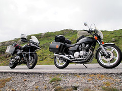 BMW and Honda. (topzdk) Tags: norway mc motorcycle honda bmw 2016 summer austagder vestagder nature
