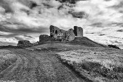Duffus Castle (AdamMatheson) Tags: blackandwhite bw cloud castle history monochrome clouds mono scotland blackwhite scenery scottish scene historicscotland duffuscastle motteandbailey scottishhistory scottishscenery adammatheson adammathesonphotography