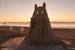 Photo 1-1 (Sam 8899) Tags: sand sculpture beach sunrise morning light sky sea color