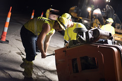 D6084_CM-422 (MoDOT Photos) Tags: nightworkzone modot i70 exitramp bycathymorrison d6084 maintenance concretereplacement heavyequipment safetygear harthats safetyglasses reflectiveshirts lights cones saw midway missouri