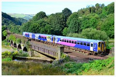 153/158 Combo (elr37418) Tags: canal northern trains gauxholme manchester dmu 158 153 bridge waterway public transport