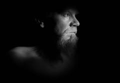 Peek to the Brightness (Kinseri) Tags: lowkey portrait selfportrait blackwhite bw light look flash canon 6d sigma 70200mm myself