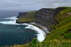 Cliffs of Moher (Larissa Green) Tags: cliffsofmoher ireland outdoor water cliffs edge landscape coast rockformation ocean grass darkskies travel