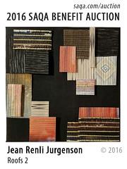 Roof 2 by Jean Renli Jurgenson (saqaart) Tags: artquilts saqa fiberart quilts textiles artwork stitched layered