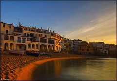 Calella de Palafrugell (antoniocamero21) Tags: pueblo casas playa paisaje agua barcas amanecer cielo color foto sony calella girona catalunya brava costa arena wow