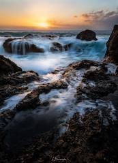 Sunset du cap la houssaye (F.L Photography) Tags: bleu sunset sun sigma sigma1020mm sky sunset974 soleil iledelareunion lareunion landscape 974 photographe974 reunionisland flphotography couchsoleil canon canon50d 50d 1020mm nature ocanindien waterscape seascape