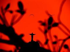 Red Rio (alestaleiro) Tags: rio riodejaneiro red rojo rouge cristredentor corcovado siluetas pjaros cielo redsky cielorojo cidademaravilhosa podeaucar pandeazucar sugarloaf vermelho cristovermelho jesus esculpture escultura alestaleiro cristo sunset atardecer pordosol ocaso tramonto