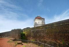 Aguada Fort (Bhaskar Dutta) Tags: aguada fort light house wall stone brick goa north india lighthouse