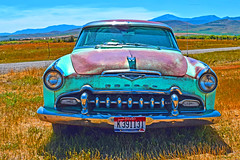Outstanding in it's Field (oybay©) Tags: rustyandcrusty rusty outstandinginitsfield wyeth art artistic somewhereinidaho privateidaho famouspotatoes idaho ovid ovididaho composition car automobile interesting cool different unusual desoto chrysler chryslercorporation landscape portrait house home church ldschurch abandoned dilapidated color colors favorite bestphoto yourbestphoto exeplemparyshots flickr flickrplatinum magicdonkeysbest theunforgettablepictures outdoor vehicle architecture andrewwyeth