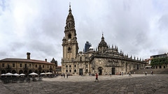 Stitched pano of the Cathedral of Santiago de Compostela (Frank ) Tags: cathedral santiagodecompostela stjames jacobus apostel bedevaart pelgrim pilgrimage pilgrim pellegrino shell schelp spain theway frnk canon6d europe pano panorama cc stiched christan catholic espana ngc