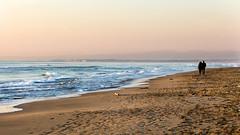 Sea in winter (Danilo Danlo) Tags: yellow sky landscape sunset beach blue light waves beautiful white colors sand canon pink peolples sea foam italy winter efs 55250mm f456 is lazio fregene love peace
