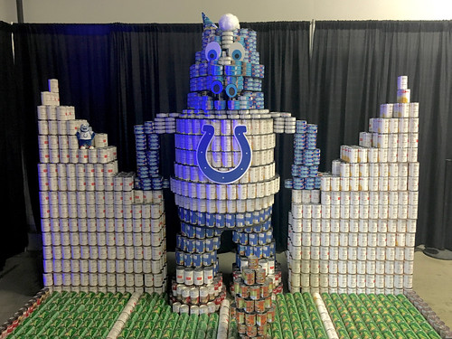 Indiana Colts in cans display