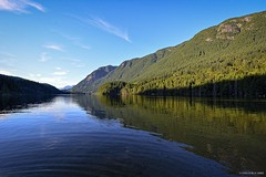 Buntzen Lake - View from South Beach ( Peteron Phtography) Tags: anmore portmoody britishcolumbia canada nikond5200 nikon lake buntzenlake buntzenlaketrail trail hiking walking forest trees water mountains bridges footbridges creeks vegetation roots swinmming beach southbeach northbeach summer watersports boating fishing sunset waterscape landscape wildlife rocks