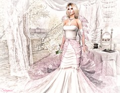 Sabrymoon wearing Styles by Danielle Bridal Gown Roberta and Lucky Night Wedding Bouquet white (Two Too Fashion) Tags: secondlife secondlifemodel stylesbydanielle bridalgownroberta weddingbouquet luckynight bridalgown bridal weddingdress wedding fashion fashiondress elegance event femaleoutfit fashionoutfit highfashion hautecouture laceddress elegantdress elegant