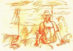 PROYECTO 132-41 (GARGABLE) Tags: angelbeltrn apuntes sketch lpicesdecolores drawings proyecto 132 64 todo varios variado dibujos gargable playa gente siesta sanjuan