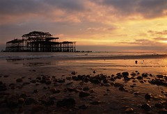 West Pier (Sarah Marston) Tags: brighton eastsussex westpier sony a65 alpha september 2016 clouds sunset