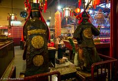Man Mo Temple - V (Theunis Viljoen LRPS) Tags: hongkong manmotemple red devotion prayer praying