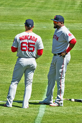 Yoan Moncada + David Ortiz - Red Sox (BlueVoter - thanks for 1.5M views) Tags: baseball beisbol redsox oakland ortiz papi bigpapi